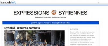 Expressions Syriennes: the Syrian media report in French about the day-to-day lives of the Syrian people