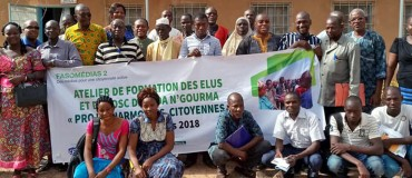 Elected officials and civil society engaged in promoting citizen harmony in Bobo and Fada