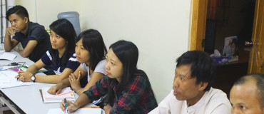 Forty journalists in training at the Myanmar Journalism Institute, Rangoon