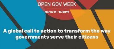 Du 11 au 17 mars 2019, le #PAGOF célèbre la Semaine du gouvernement ouvert !