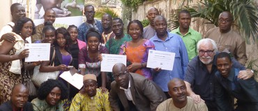 Two pilot sessions with Guinean media and civil society on the topic of health